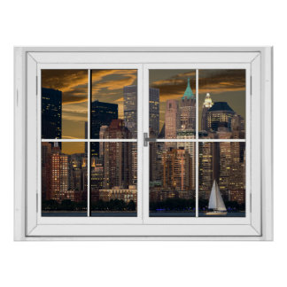 Pôster Opinião artificial da janela da Nova Iorque