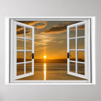 Poster Opinião artificial da janela do nascer do sol