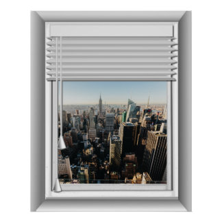 Pôster opinião da janela da falsificação da Nova Iorque