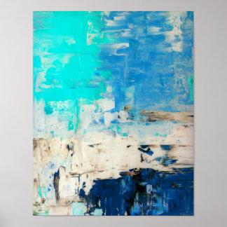 """Pôster """"Oposto"""" à arte abstracta de turquesa"""