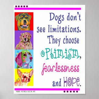 Poster optimista da arte do cão