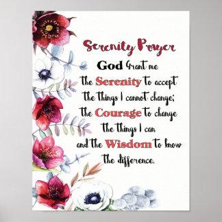 Poster Oração da serenidade