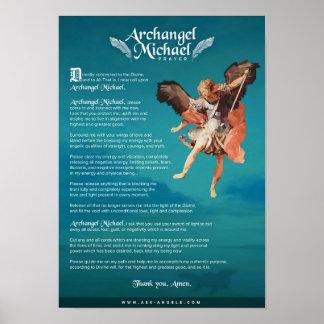 Poster Oração de Michael do arcanjo