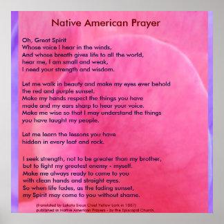 Poster Oração do nativo americano