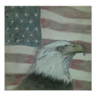 Poster Orgulho americano Eagle