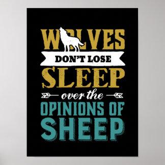 Pôster Os lobos não perdem o sono sobre a opinião dos