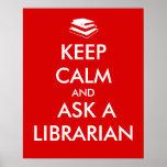 Pôster Os presentes do bibliotecário mantêm a calma para