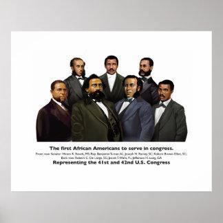 Pôster Os primeiros afro-americanos a servir no congresso