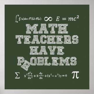 Pôster Os professores de matemática têm problemas
