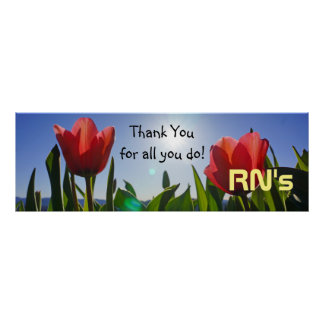 Pôster Os RN agradecem-lhe cuidados da semana da
