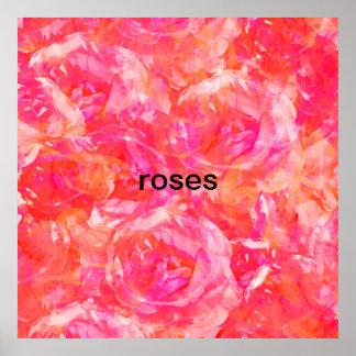 Poster Os rosas são vermelhos