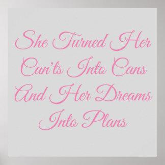 Pôster Os sonhos de uma menina
