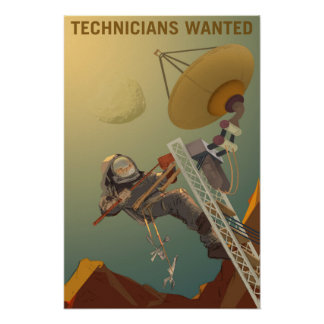Pôster Os técnicos quiseram projetar nosso futuro em
