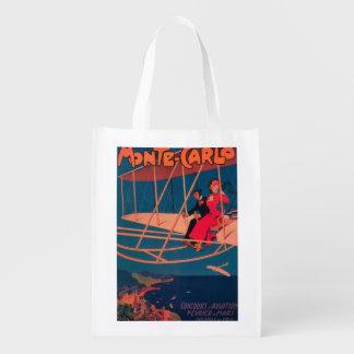 Poster ostentando da aviação sacolas ecológicas para supermercado