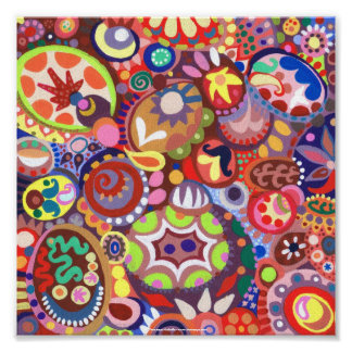 Poster ou impressão abstrato Funky das belas artes