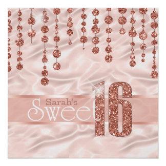 Pôster Ouro cor-de-rosa ID260 do doce dezesseis da jóia