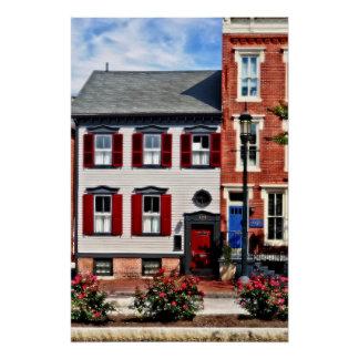 Pôster PA de Harrisburg - Rosas na rua do estado