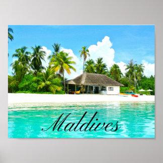 Poster Paisagem bonita de Maldives