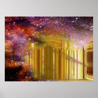 Poster Palace2 astral dourado