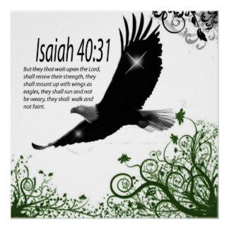 Pôster Palavra dos deuses - 40:31 de Poster-Isaiah