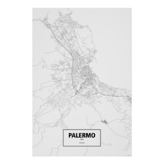 Pôster Palermo, Italia (preto no branco)