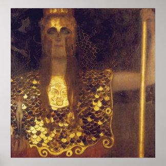 Poster Pallas Athena por Gustavo Klimt