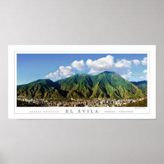 Poster panorâmico largo do parque nacional de