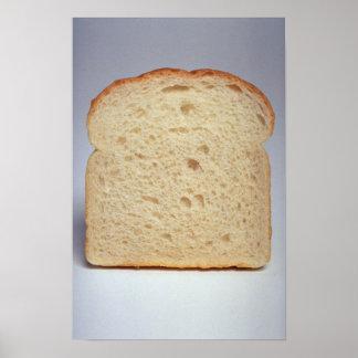 Pôster Pão branco delicioso