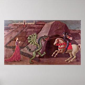 Pôster Paolo Uccello - St George e o dragão