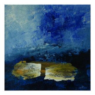 Pôster Papel de poster do cm x 51 cm do azul 51