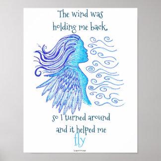 Poster para moldar inspirada o vento