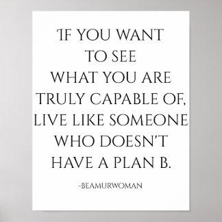 poster para moldar o que você é capaz