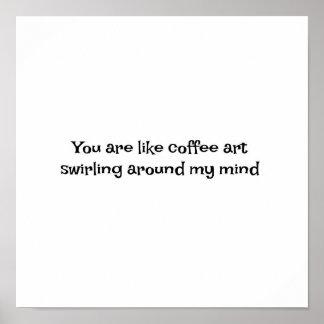 poster para moldar para os amantes do café
