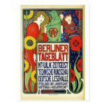 Poster para o jornal Tageblatt berlinês, 1899 Cartao Postal
