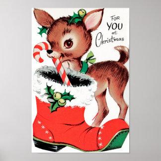 Poster Para você na rena do Natal