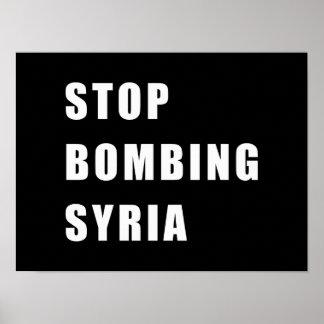 Pôster Pare de bombardear Syria