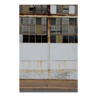 Pôster Parede Center de uma fábrica abandonada