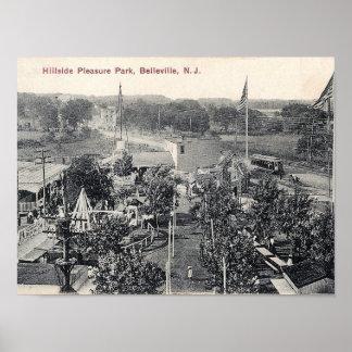 Pôster Parque do prazer do montanhês, trole, Belleville