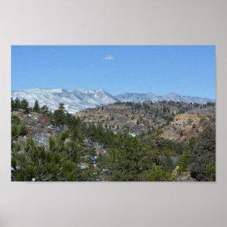 Poster Parque estadual de Colorado das montanhas rochosas