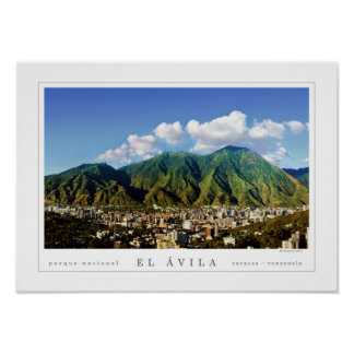 Poster Parque nacional de Avila da cidade de Caracas