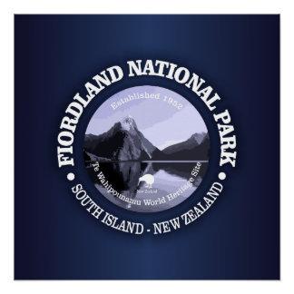 Pôster Parque nacional de Fiordland