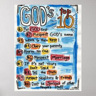 Poster Parte superior católica dez