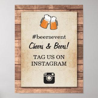 Pôster Partido do evento da foto do sinal de Instagram
