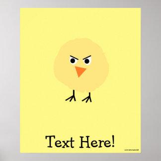 Poster Pássaro muito virado