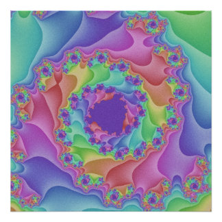 Poster Pastel da espiral do arco-íris