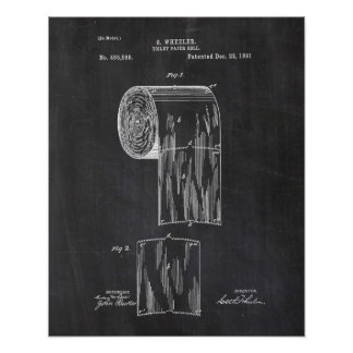 Pôster Patente do papel higiénico