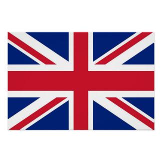 Poster patriótico com a bandeira de Reino Unido Poster Perfeito