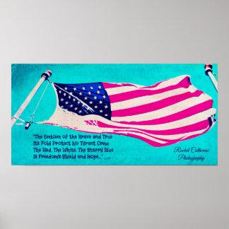 Poster patriótico da bandeira americana