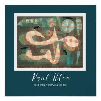 Pôster Paul Klee - a soga farpada com o poster dos ratos