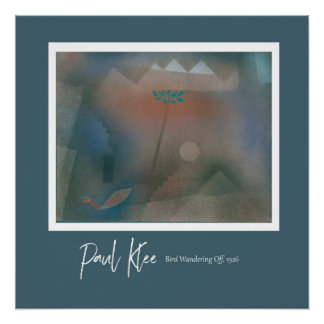 Pôster Paul Klee - pássaro que vagueia fora do poster